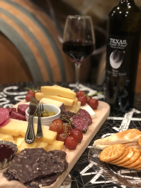 Charcuterie board - Texas SouthWind VIneyard and Winery
